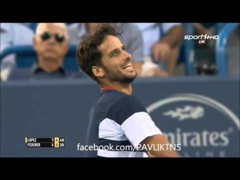 Feliciano Lopez vs Roger Federer  Cincinnati Open 2015
