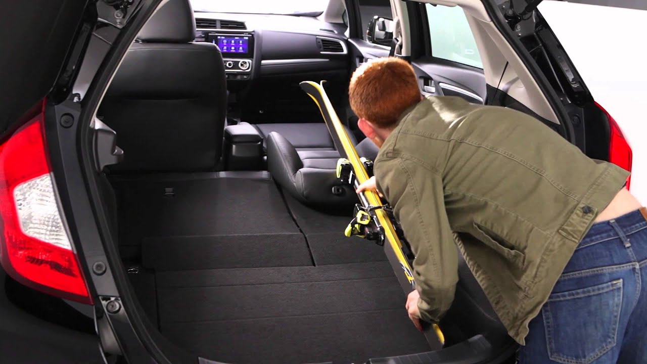 honda jazzfit interior cargo space youtube