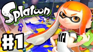 Splatoon - Gameplay Walkthrough Part 1 - Intro, Multiplayer, and Single Player (Nintendo Wii U)