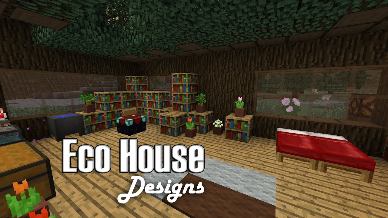 Minecraft: Eco House Designs - YouTube