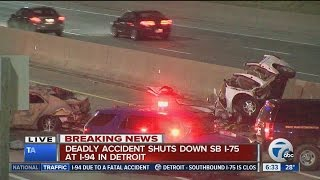 3 killed in accident on I-75 in Detroit
