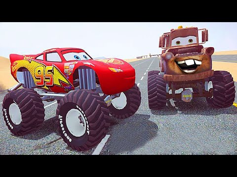 Grand Theft Auto IV - Dead Race With Monster Truck MCQUEEN and Tow Mater from CARS [MOD] 60fps