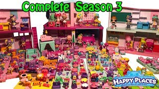 Shopkins Happy Places COMPLETE SEASON 3 All Petkins & Lil' Shoppies From Season 3 Lots Of Petkins
