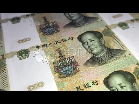 Printing Yuan - Vertical. Stock Footage