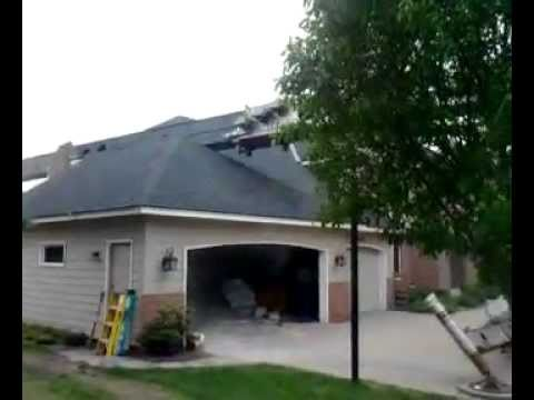 Crane Crushes House
