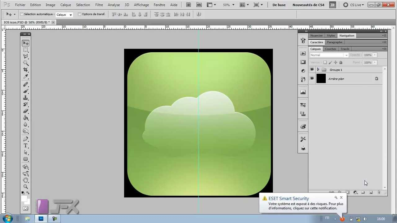 Formation photoshop cs5 cs6 cr er ios icon youtube for Effet miroir photoshop cs5