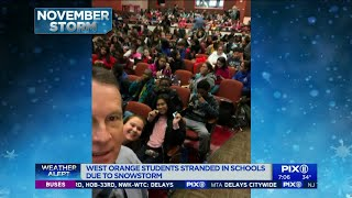West Orange students stranded in school due to snow