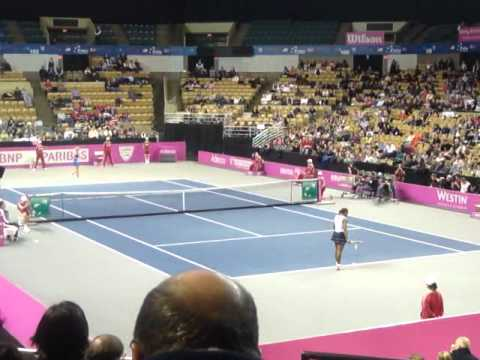 Fed Cup 2012 Serena Williams vs Olga Govortsova Part 4