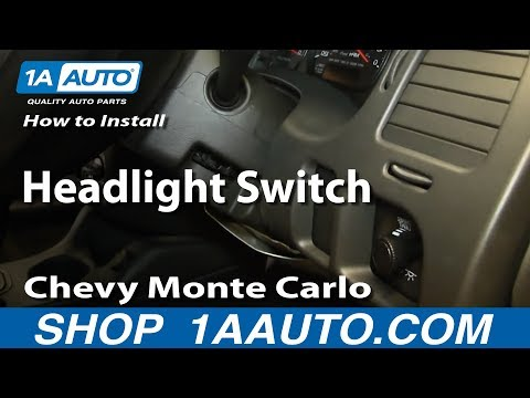 How To Install Replace Headlight Switch 2000-05 Chevy Monte Carlo