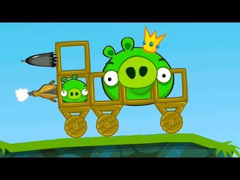 Bad Piggies #3 Плохие свинки мультик игра про машинки с мультяшными героями #МАШИНКИКИДА