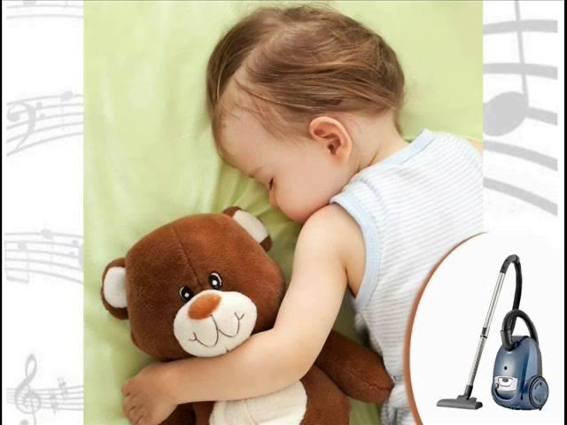Uklidňující zvuky hluk vysavač působící na miminko