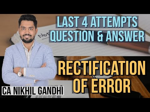 Rectification of Errors | Past Year Q&A | CA Foundation | With PDF |
