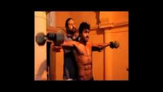 Poola Rangadu - Sunil 6 pack worksout for the telugu movie Poola Rangadu