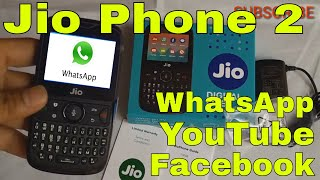 Jio Phone 2 Unboxing, whatsapp, Quick Review, Dual sim, camera, Features | Hindi