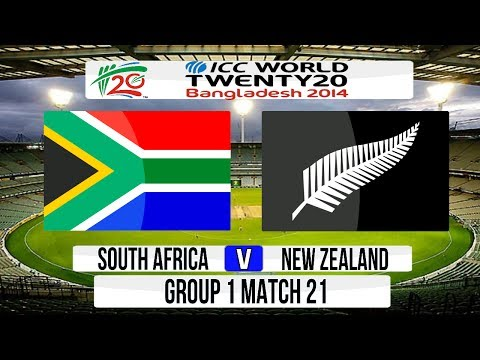 ICC T20 World Cup 2014 Super 8 - South Africa v New Zealand Group 1 Match 21