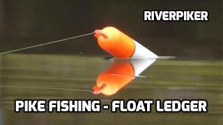 Deadbait pike fishing using the float ledger - (video 168)