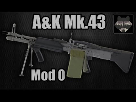 A&K M60 MK43 Mod. 0 Full Metal Machine Gun - Airsoft Review [HD]