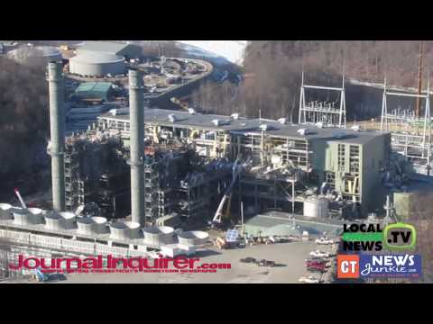 Aerial Footage of Middletown Kleen Energy Natural Gas Plant Explosion