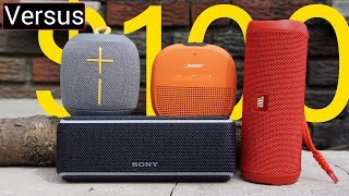 Best $100 Speaker Summer 2018 - JBL Flip 4 Vs Sony XB21 Vs UE WONDERBOOM Vs Bose Soundlink Micro