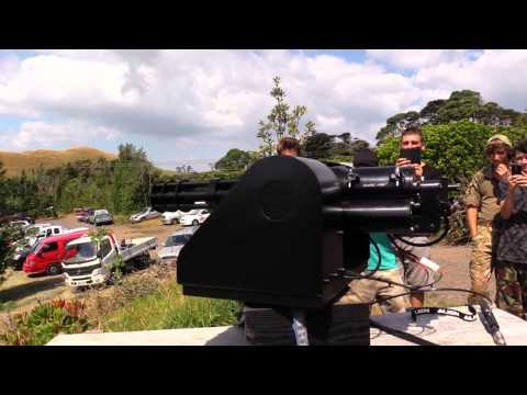 MINI GUN TURRET TEST FIRE AIRSOFT Classic Army Vulcan M134-A2