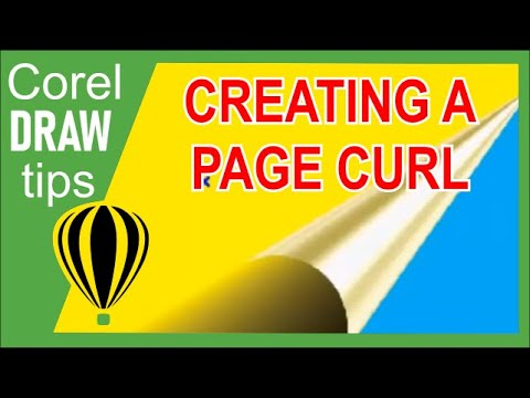 Creating Page Curl in CorelDraw