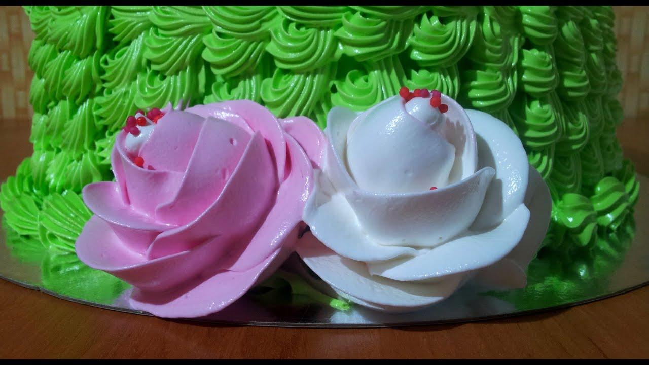 Как украсить торт белковым кремом пошаговое фото