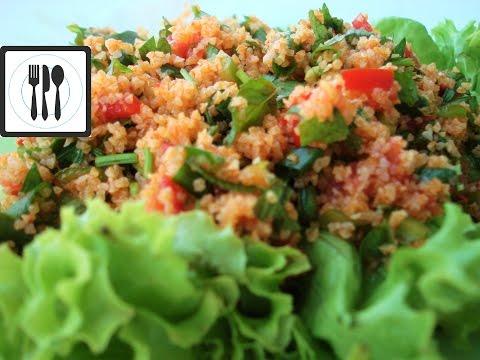 КЫСЫР - турецкий салат из булгура, перца, помидор и зелени / KISIR nasıl yapılır