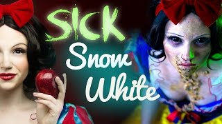 SICK SNOW WHITE Makeup Tutorial - Glam & Gore Disney Princess