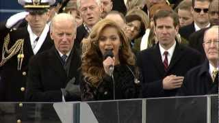 Beyoncé performs the National Anthem at the 2013 Presidential Inauguration