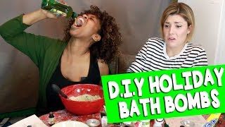 DIY HOLIDAY BATH BOMBS w/ GLOZELL // Grace Helbig