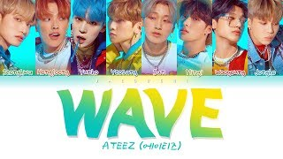 ATEEZ (에이티즈) - WAVE (Color Coded Lyrics Eng/Rom/Han/가사)