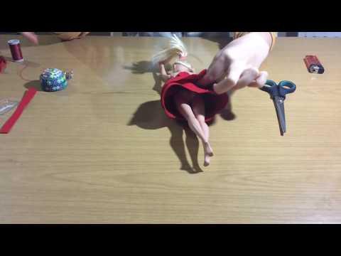 Barbie Keçeden Kırmızı Elbise Yapımı - Kendin Yap