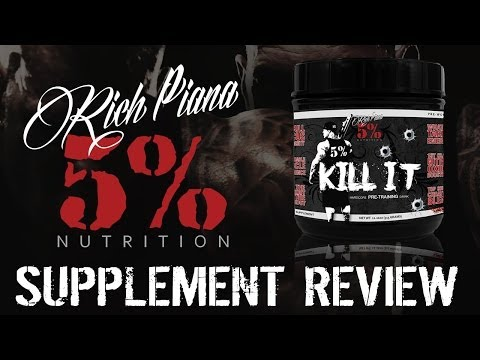 Rich Piana 5% Nutrition KILL IT Supplement Review & Taste Test - RATED #1 PREWORKOUT