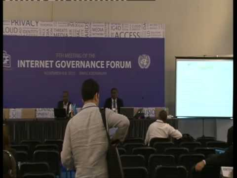 IGF2012- WS 78- Internet Governance of Open Government Data and for Sustainable Development