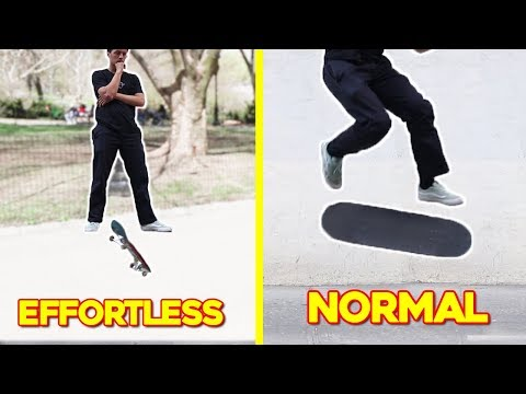 MOST Effortless Skateboard Tricks!