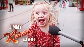 Jimmy Kimmel Can't Believe Her Answer... (We Ask Kids Explain Jimmy Kimmel Live)