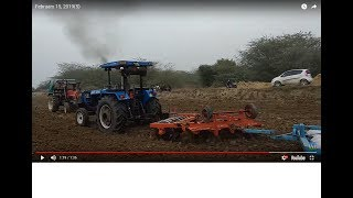 Eicher 557 tractor again demo with 3 harrow