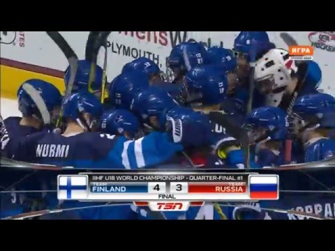 Apr 21, 2016 U-18 WJC: 1/4. Finland 4-3 Russia