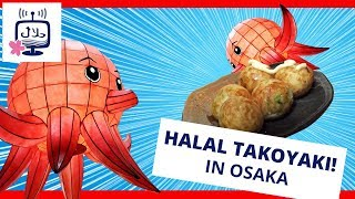 Halal TAKOYAKI in Japanese Food Restaurant MATSURI in Osaka, Japan