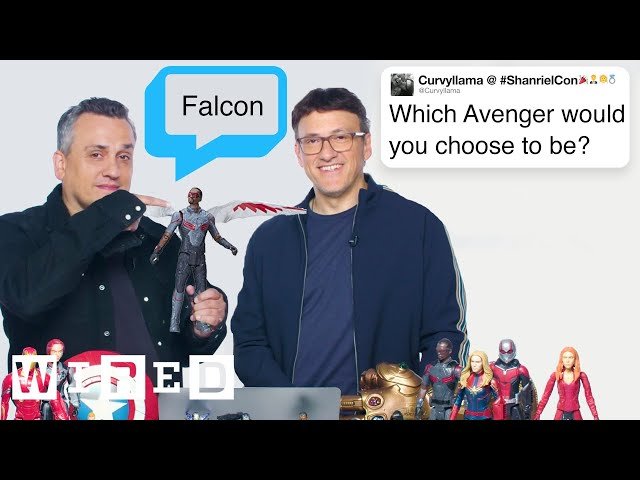 The Russo Brothers Answer Avengers: Endgame Questions From Twitter | Tech Support | WIRED thumbnail