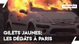 «Gilets jaunes»: les images de la nuit à Paris