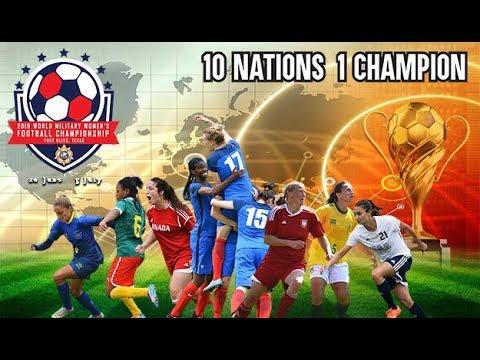 Match 1: USA vs South Korea - CISM Women's Football 2018
