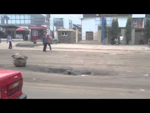 Dangerous Driving on a Lagos street, Nigeria