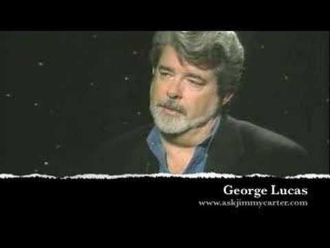 George Lucas talks with Jimmy Carter