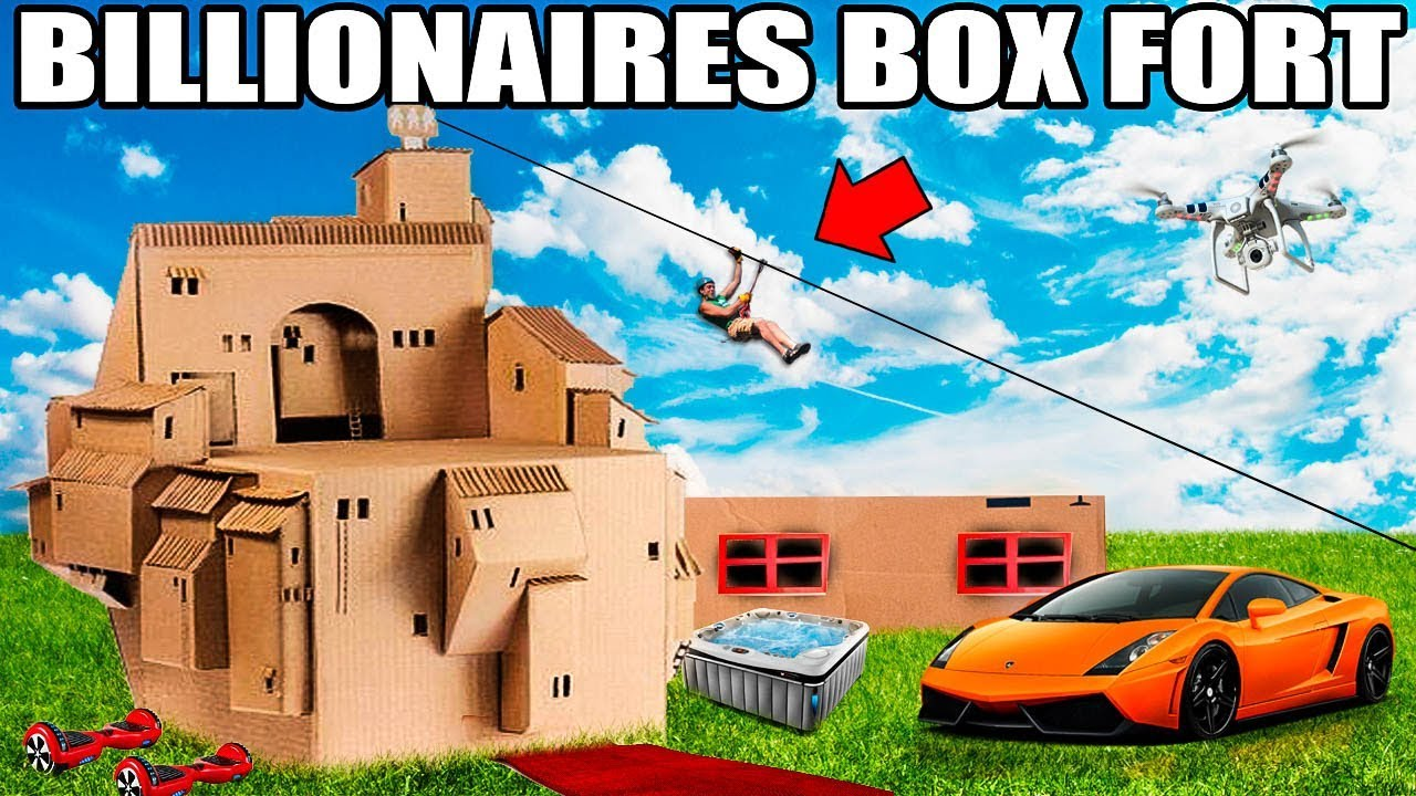 WORLDS BIGGEST BILLIONAIRE BOX FORT CHALLENGE!!