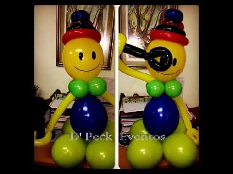 Mu eco hecho de globos snowman balloons globoflexia - Hacer munecos con globos ...