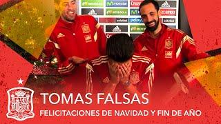 Tomas falsas de las felicitaciones de navidad y fin de año de la Selección española de fútbol
