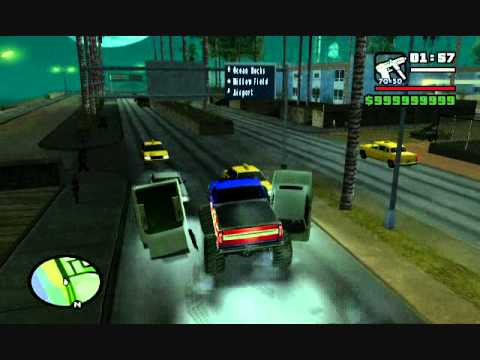 GTA SA: El truco del monster truck