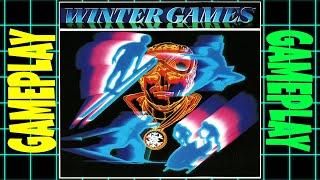 Winter Games ~ (1985) ~ (Pc,DOS,CGA) ~ Playthrough