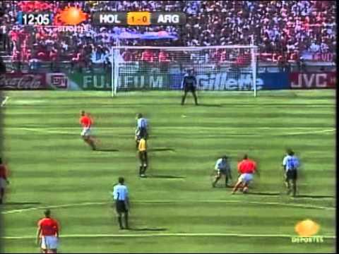 gol de Patrick Kluivert contra argentina en francia 98